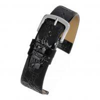 Croc Grain Strap Black W500