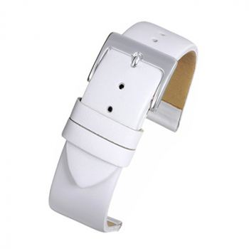 White Leather Watch Strap W104