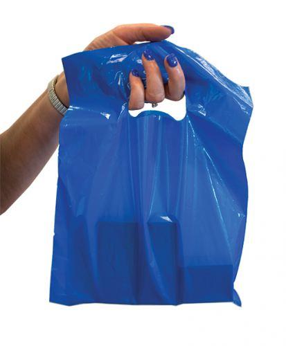 Blue Plastic Shoppers Bag