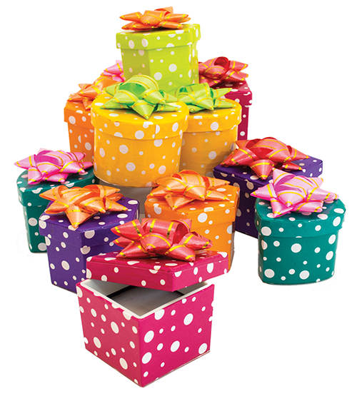 Polka Dot Ring Boxes