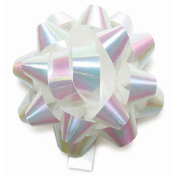 Gift bows white iridescent negle Gallery