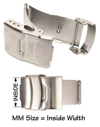 Individual double push button clasp with safety