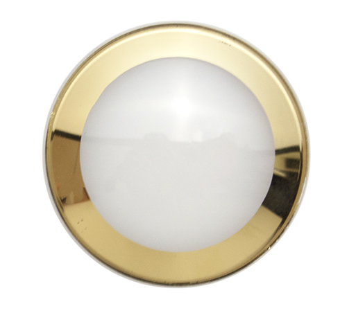 GED Domed Crystal Gold Trim