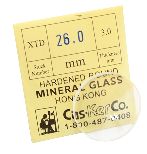CasKer Domed Watch Crystal XTD 26