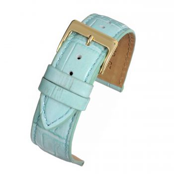Lt Blue Sq Croc Grain Watchstrap WH883